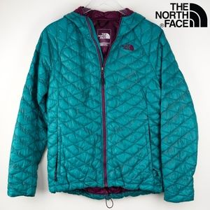 North Face Thermoball Full Zip W/ Hood Jacket Med